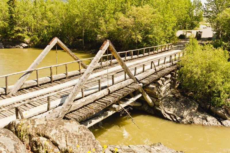 Ponte dell'insenatura del canyon fotografia stock libera da diritti