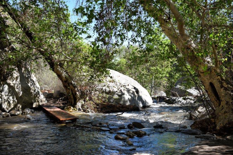 Ponte dell'insenatura del canyon di Tahquitz fotografia stock