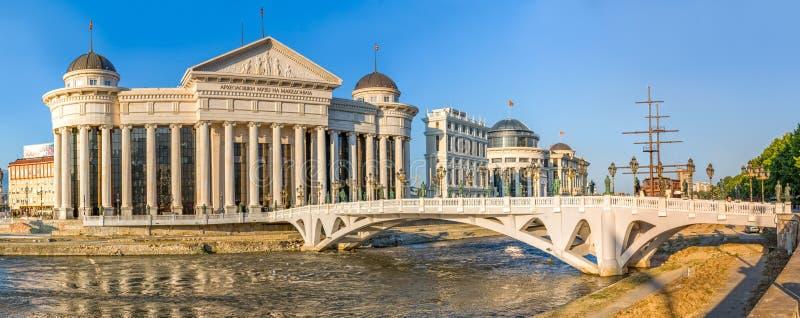 Ponte dell'occhio di arte di Skopje immagini stock libere da diritti