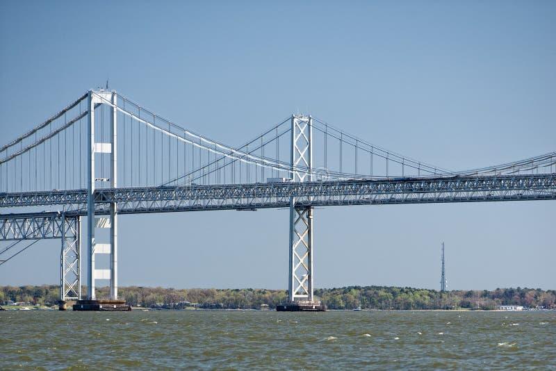 Ponte della baia di Maryland immagini stock