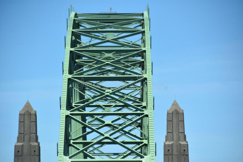 Ponte della baia di Yaquina in Oregon immagine stock