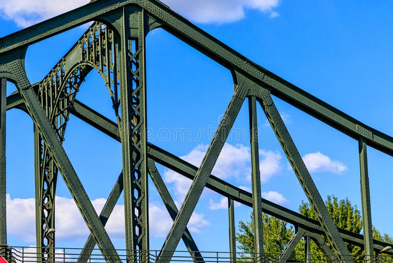 Ponte della Germania- Glienicker sopra il Havel fra Berlino e Potsdam fotografia stock libera da diritti