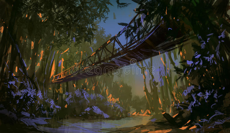 Ponte della giungla illustrazione di stock