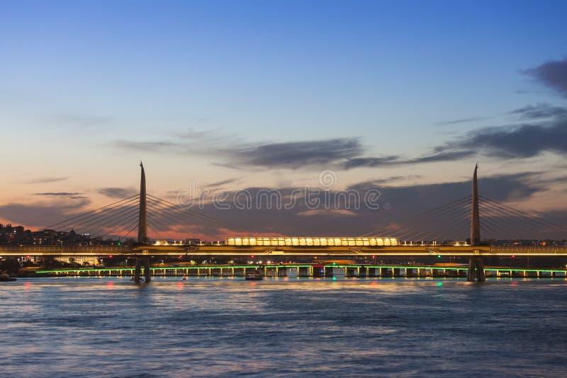 Ponte della metropolitana, Costantinopoli fotografia stock