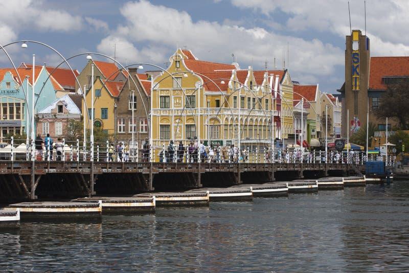 Ponte della regina Emma in Willemstad fotografia stock libera da diritti
