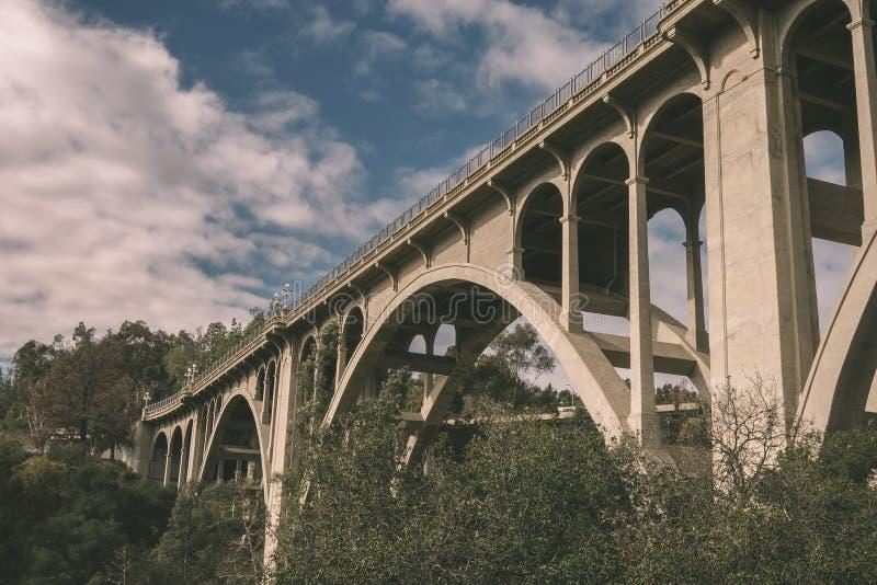 Ponte della via di Colorado a Pasadena fotografia stock