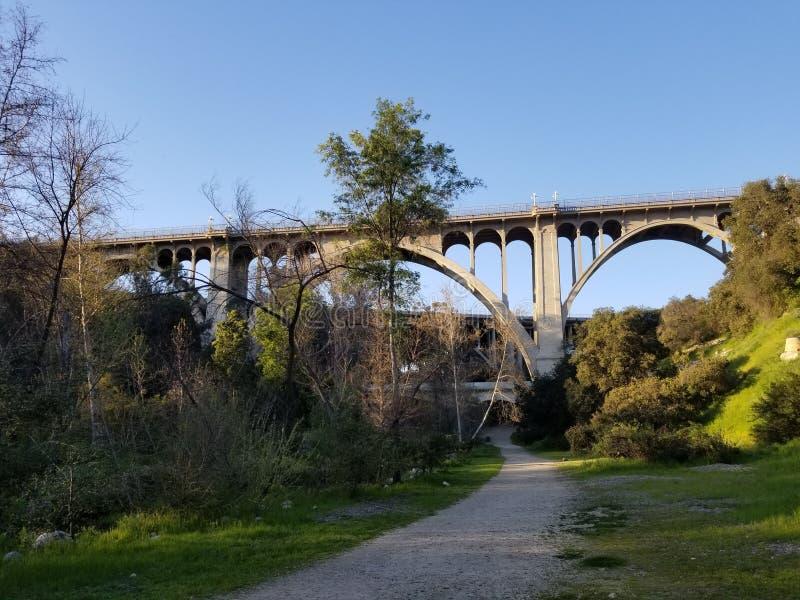 Ponte della via di Colorado a Pasadena immagine stock