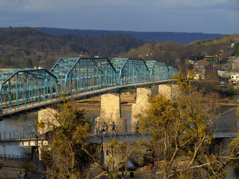 Ponte della via della noce--Chattanooga, Tennessee fotografie stock