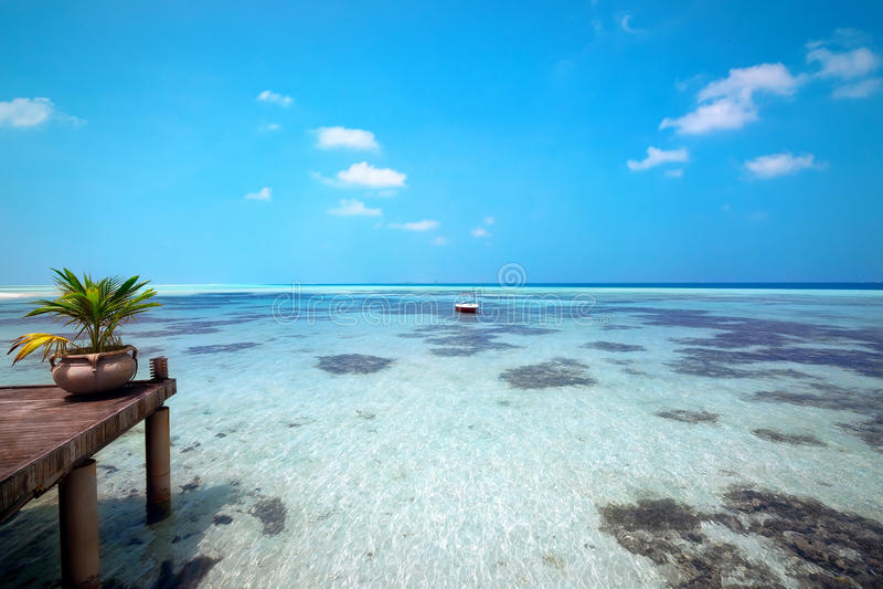 Ponte delle Maldive fotografie stock libere da diritti