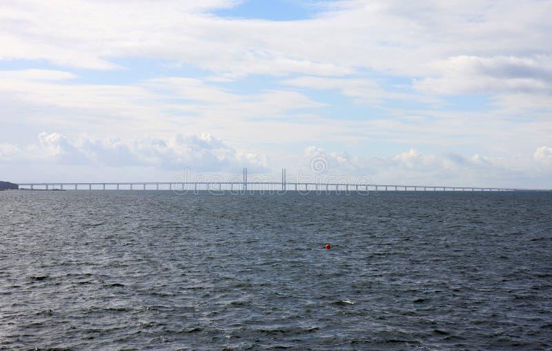Ponte di Ã-resund fra la Danimarca e la Svezia, Svezia fotografia stock