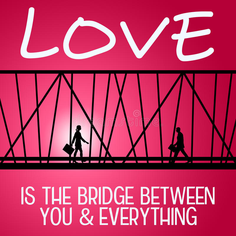 Ponte di amore royalty illustrazione gratis