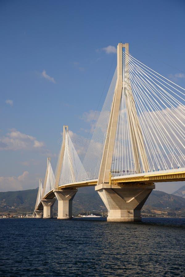Ponte di antirio di Rio immagini stock libere da diritti