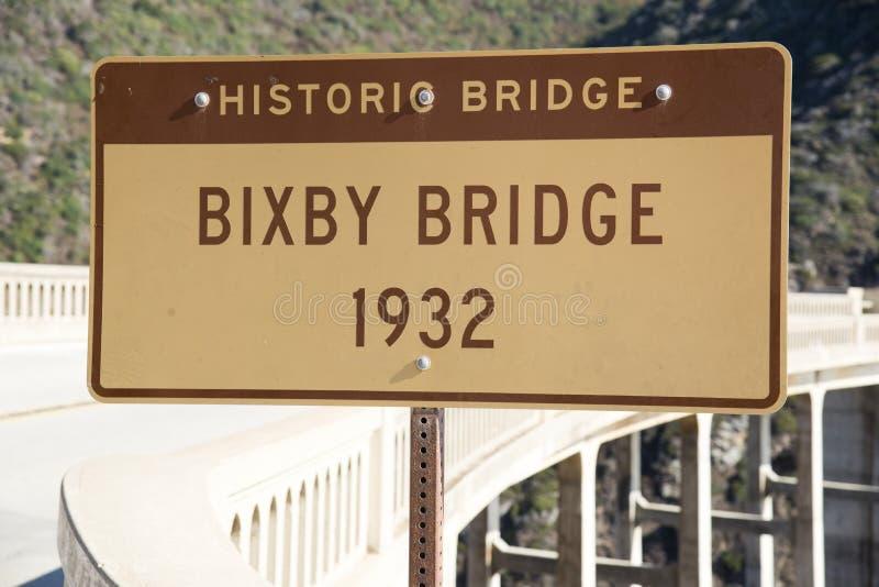 Ponte di Bixby immagine stock