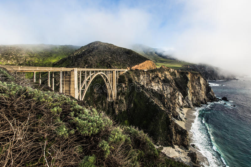 Ponte di Bixby, Big Sur fotografia stock