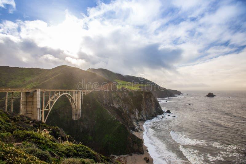 Ponte di Bixby a Big Sur, CA immagini stock libere da diritti