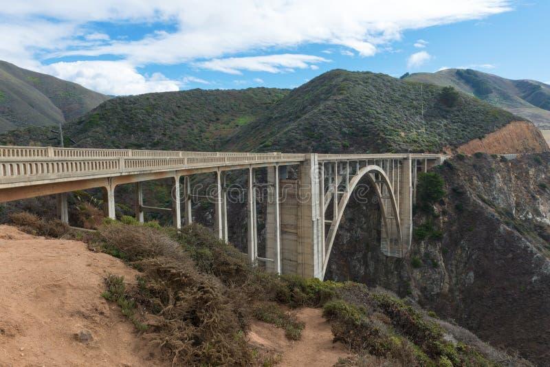 Ponte di Bixby sulla strada principale di Cabrillo immagine stock