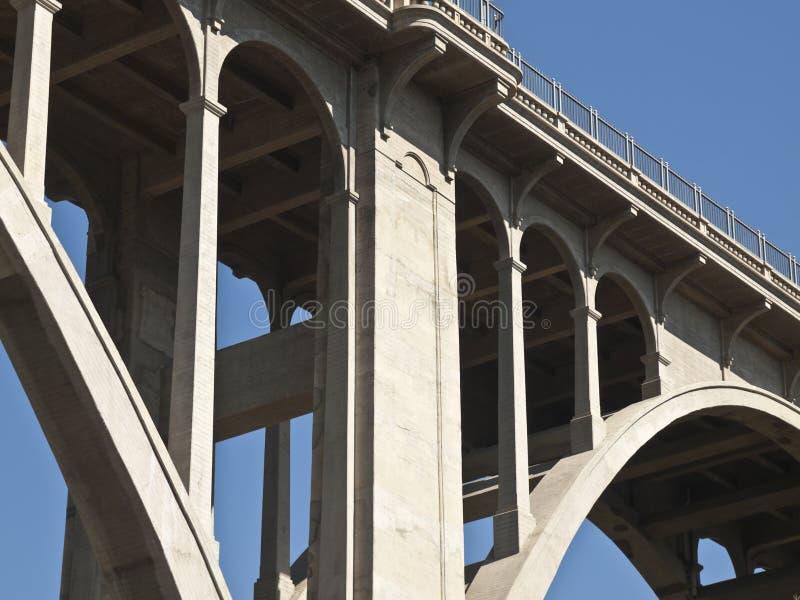 Ponte di boulevard di Pasadena California Colorado fotografia stock