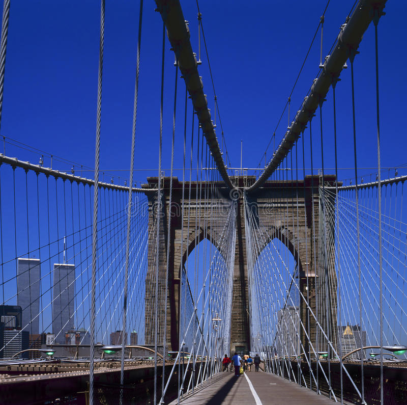 Ponte di Brooklyn fotografie stock libere da diritti