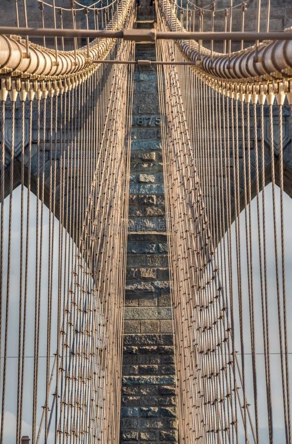 Ponte di Brooklyn - dettaglio New York, NY immagine stock libera da diritti
