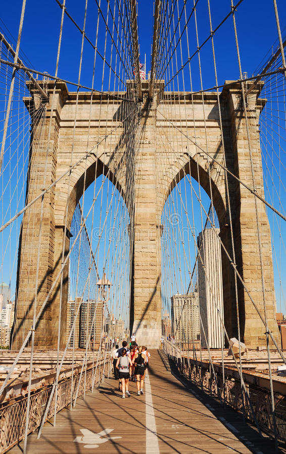 Ponte di Brooklyn di New York City fotografie stock