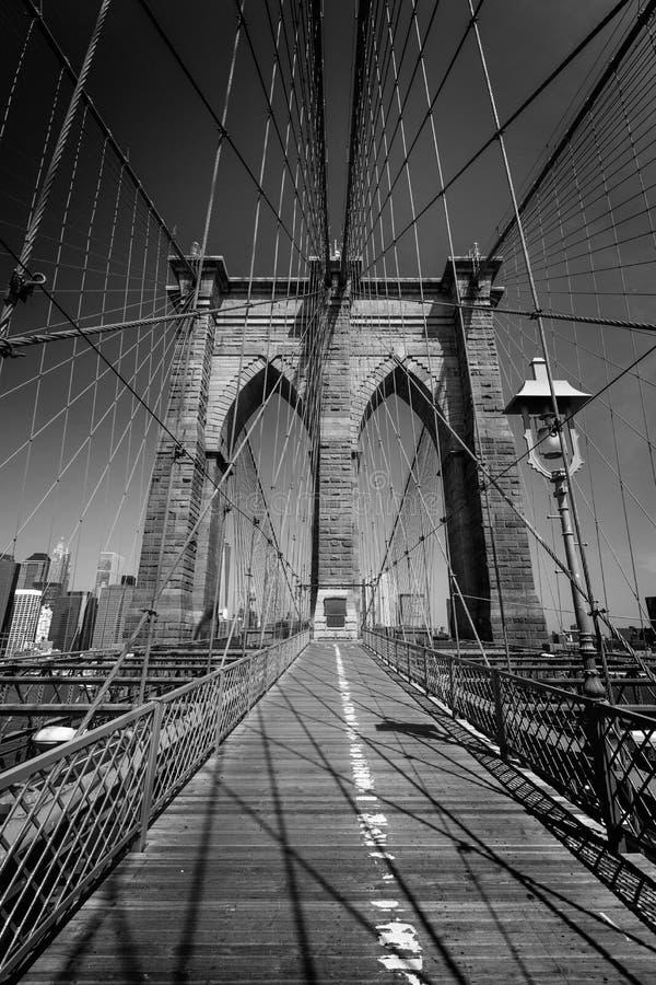Ponte di Brooklyn e Manhattan New York Stati Uniti fotografie stock libere da diritti
