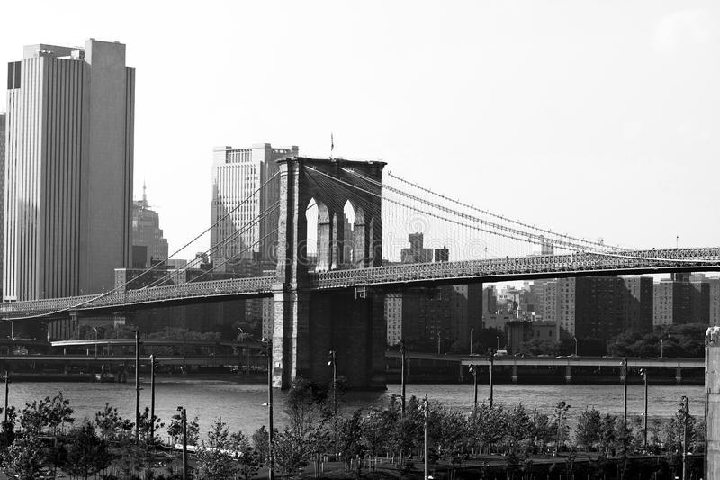 Ponte di Brooklyn New York City fotografia stock libera da diritti