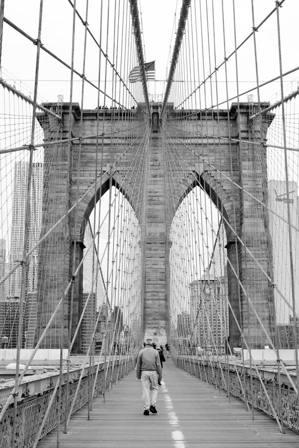 Ponte di Brooklyn a New York City fotografie stock libere da diritti