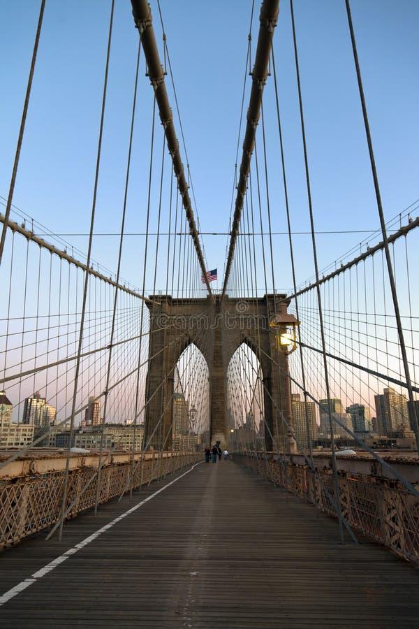 Ponte di Brooklyn a New York City immagine stock libera da diritti