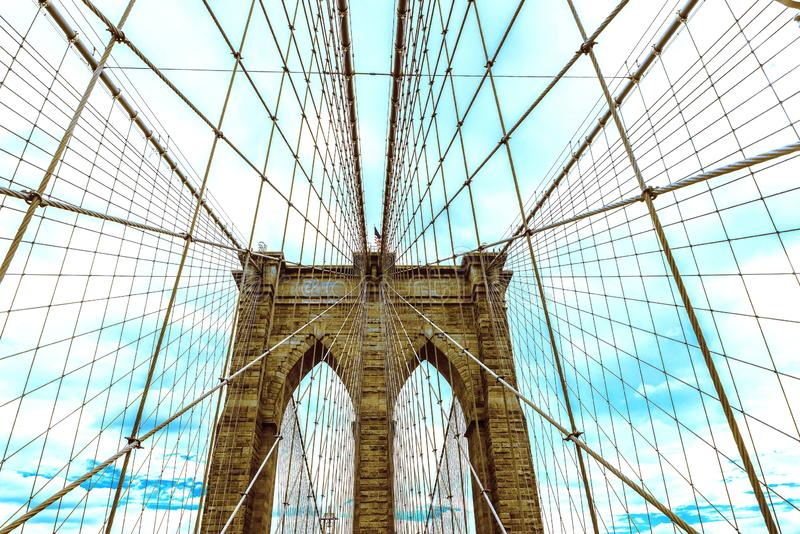 Ponte di Brooklyn in New York, U.S.A. fotografia stock