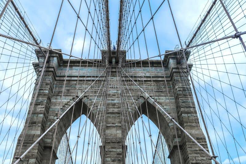 Ponte di Brooklyn in New York, U.S.A. immagini stock