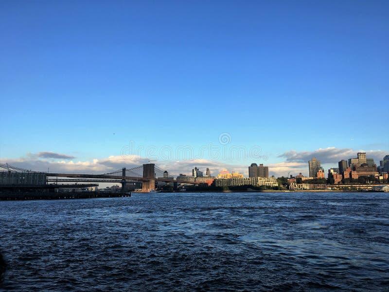 Ponte di Brooklyn, NY fotografia stock