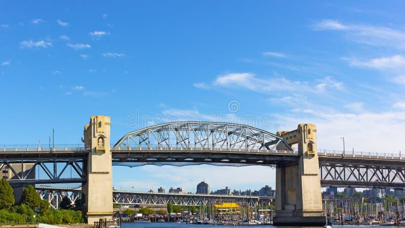 Ponte di Burrard di mattina a Vancouver, Columbia Britannica, Canada immagine stock