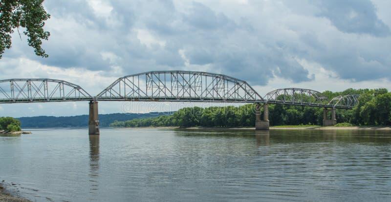 Ponte di capriata semplice fotografia stock
