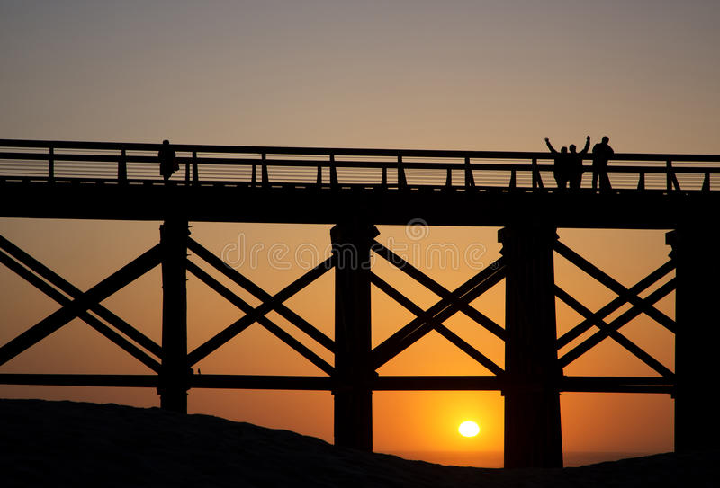 Ponte di cavalletto dell'insenatura del budino a Fort Bragg, California fotografie stock libere da diritti