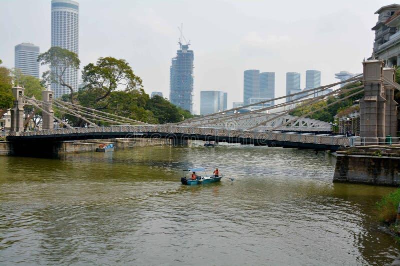 Ponte di Cavenagh, Singapore fotografia stock libera da diritti