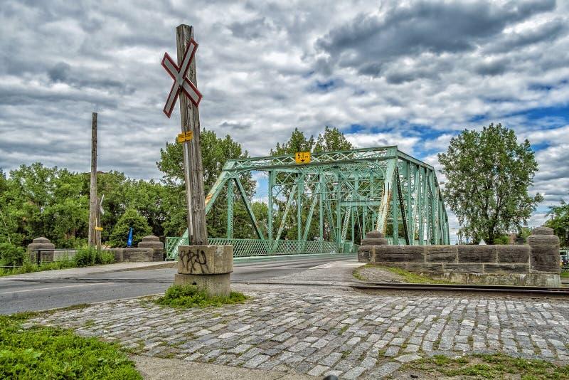 Ponte di Charlevoix - canale di Lachine immagini stock libere da diritti