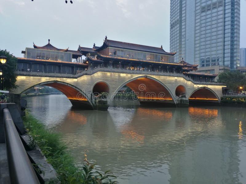 Ponte di Chengdu fotografia stock libera da diritti