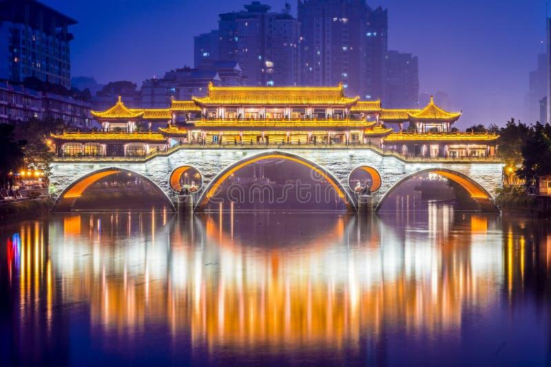 Ponte di Chengdu fotografie stock