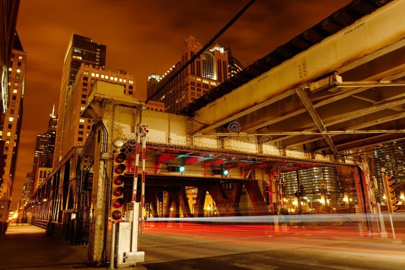 Ponte di Chicago fotografia stock