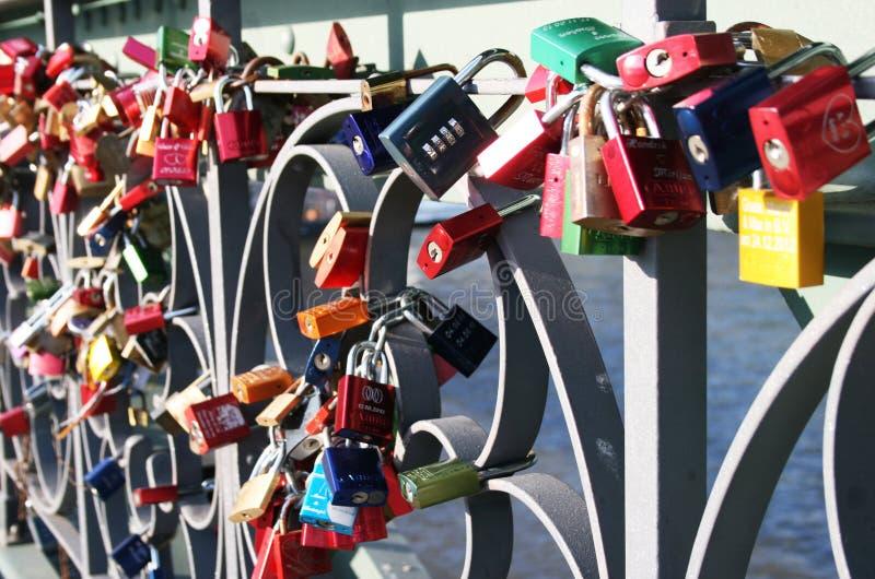 Ponte di Eiserner Steg immagine stock libera da diritti