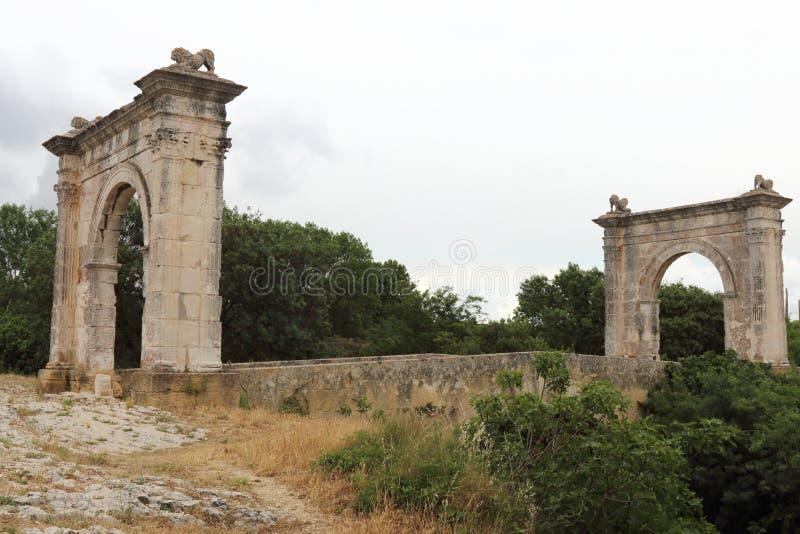 Ponte di Flavien vicino a Martigues, Francia fotografia stock