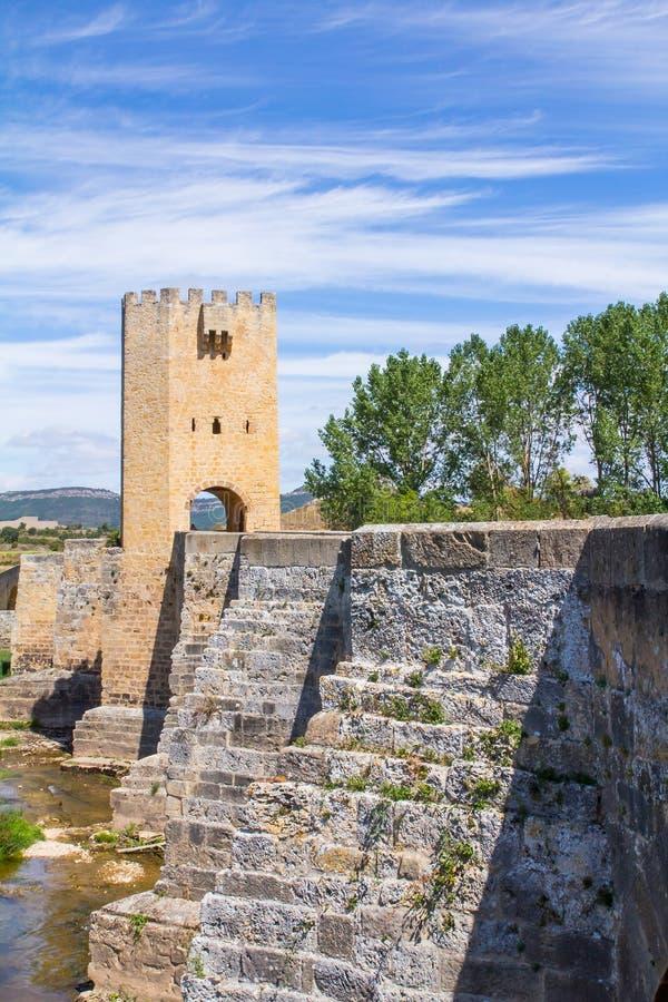 Ponte di Frias, a Burgos, la Spagna immagini stock libere da diritti