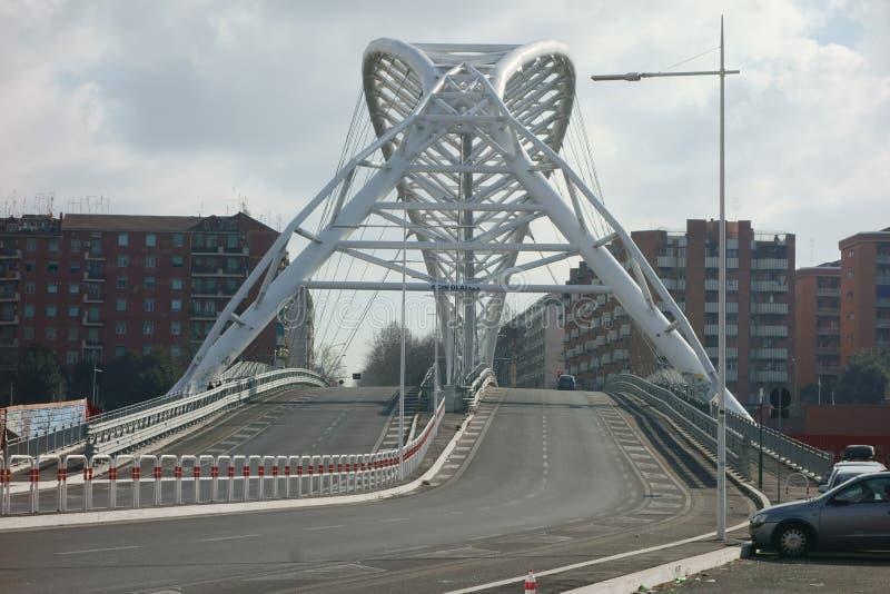Ponte di Garbatella a Roma fotografia stock libera da diritti