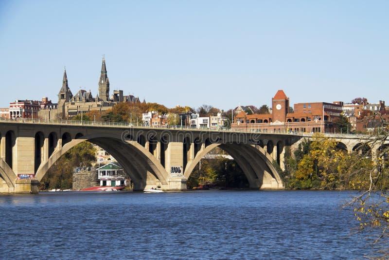 Ponte di Georgetown fotografie stock libere da diritti
