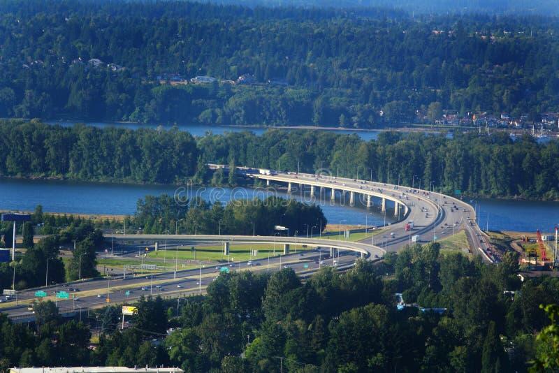 Ponte di Glenn Jackson I-205 immagini stock libere da diritti