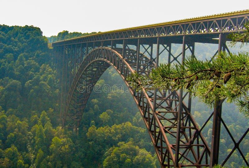 Ponte di gola di nuovo fiume in Virginia Occidentale immagini stock libere da diritti