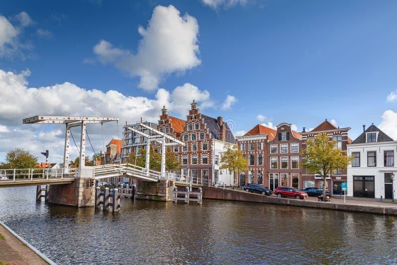 Ponte di Gravestenenbrug, Haarlem, Paesi Bassi immagine stock libera da diritti