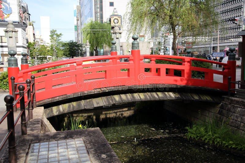 Ponte di Harimaya nella città del Kochi, Giappone fotografia stock libera da diritti