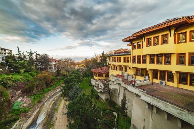 Ponte di Irgandi a partire da tempo dell'ottomano a Bursa, Turchia fotografia stock libera da diritti