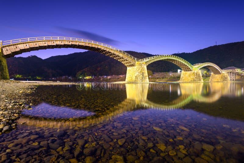 Ponte di Iwakuni nel Giappone fotografia stock libera da diritti